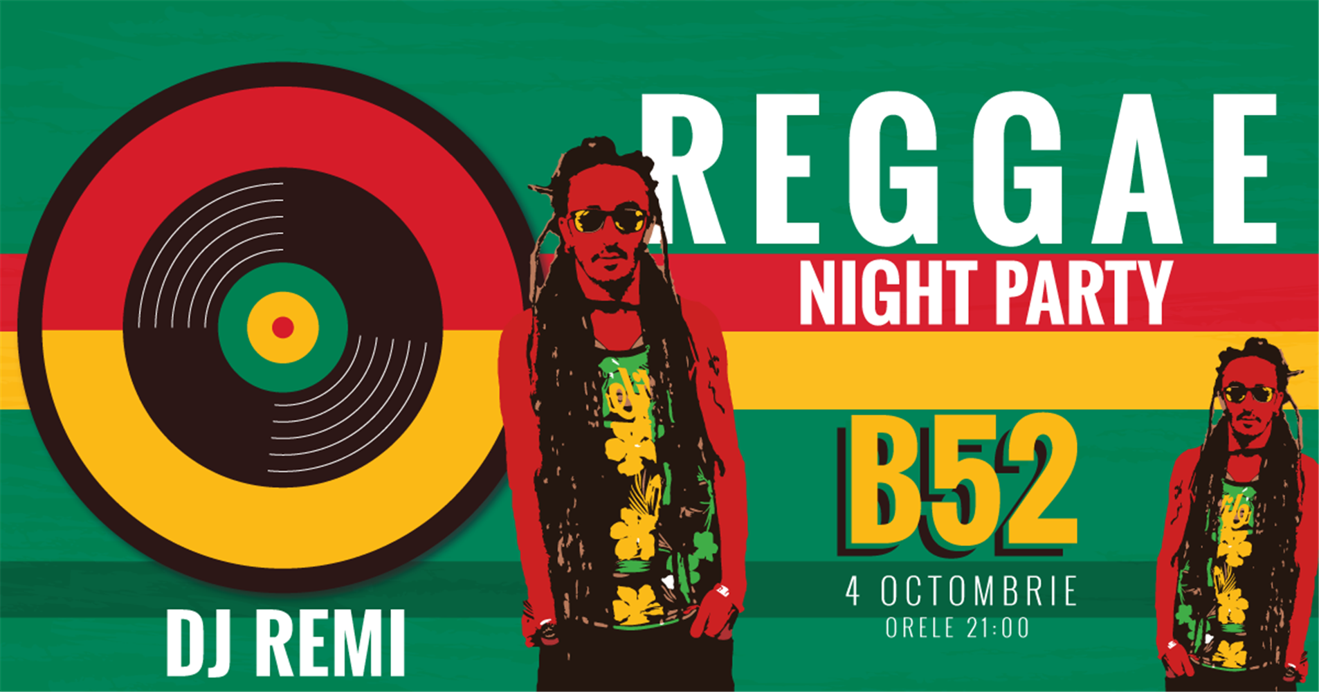 Reggae Night Party cu Remi 4 oct